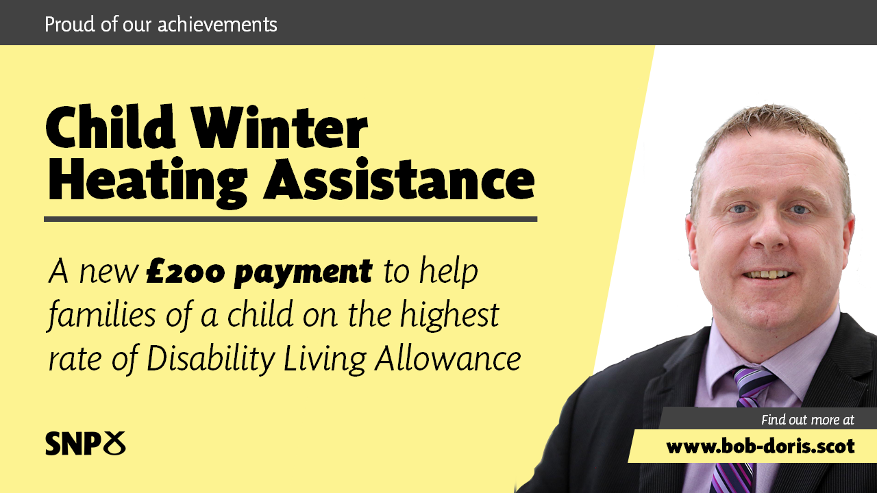 Child Winter Heating Assistance. A new £200 payment to help families of a child on the highest rate of Disability Living Allowance